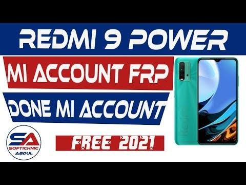 Redmi 9 Power (Lime) mi account free file | Redmi_9_POWER mi account frp unlock by softichnic