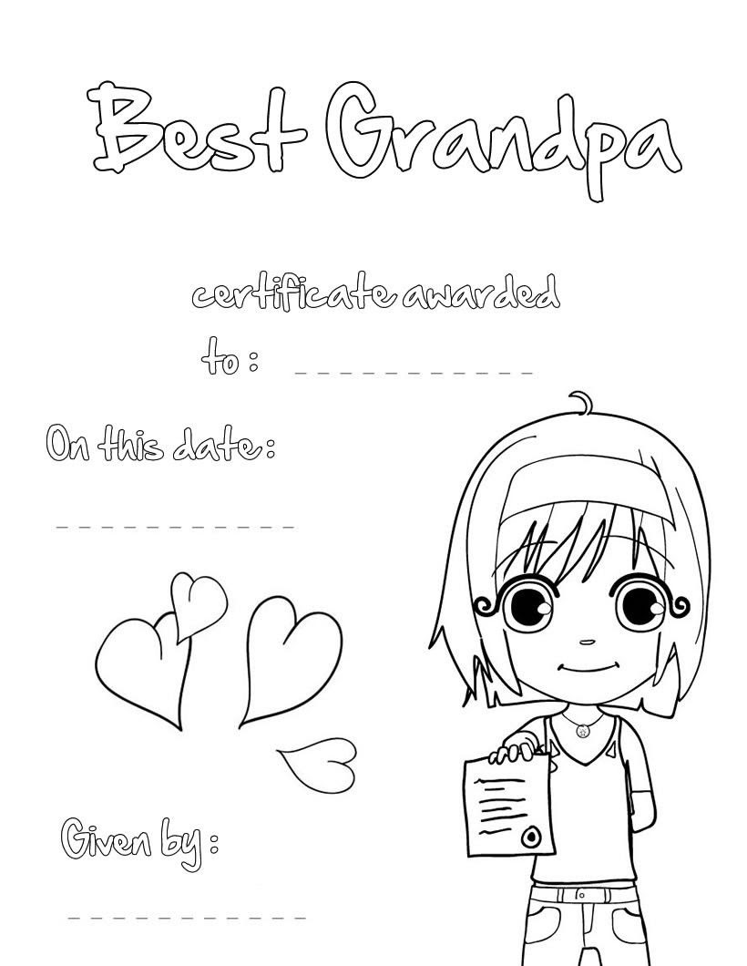 Free Birthday Coloring Pages For Grandpa - Coloring Home