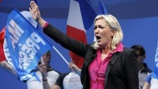 Marine Le Pen, líder del Front Nacional francès