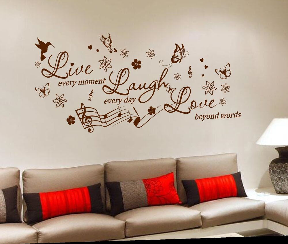 Removable Vinyl Wall Sticker Decal Mural DIY Room Art Home Decor Quote  eBay