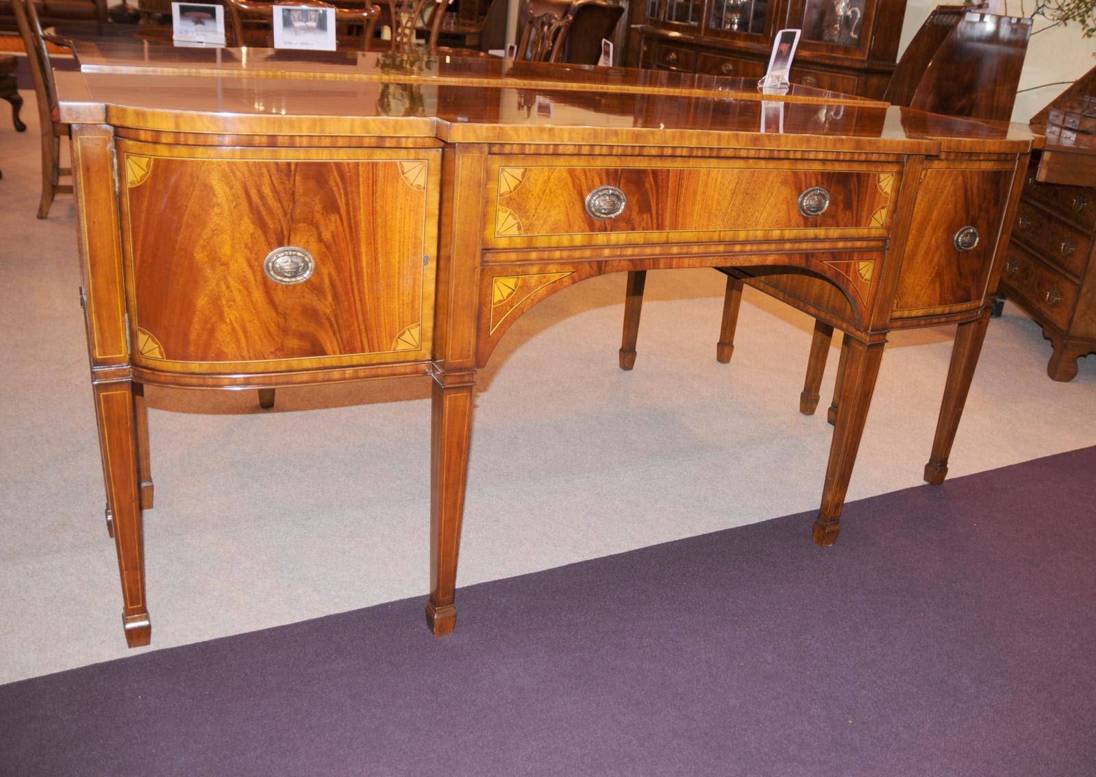 Regency Mahogany Sideboard Buffet Server Inlay Dining Furniture | eBay