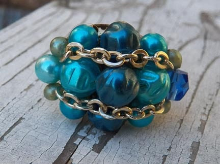 Vintage Blue & Turquoise Ring
