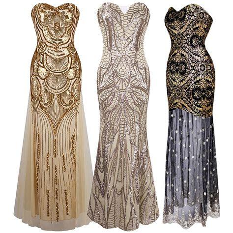 flapper maxi dress gatsby charleston beaded sequin