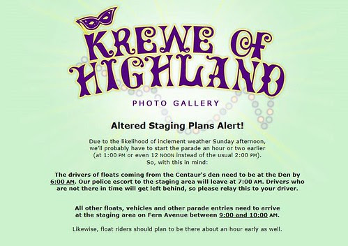 Rain plan, Krewe of Highland parade by trudeau