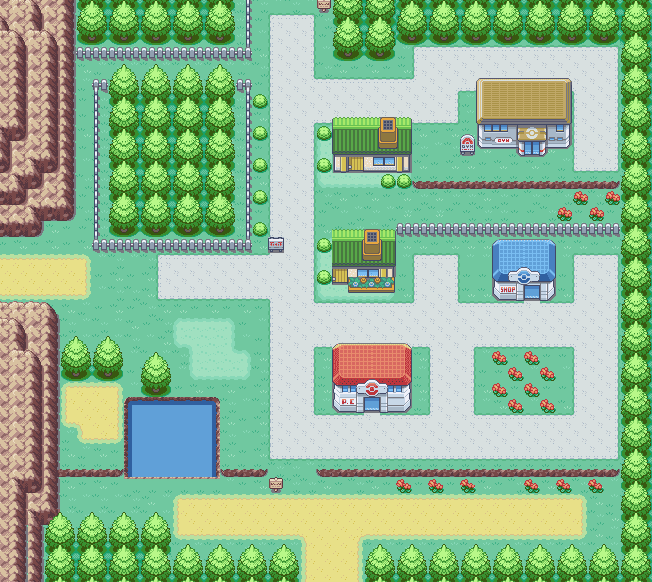 Gallery For gt; Pokemon Fire Red Map Pallet Town