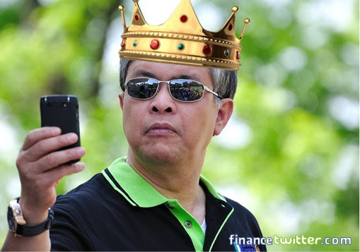Zahid Hamidi Wearing Crown