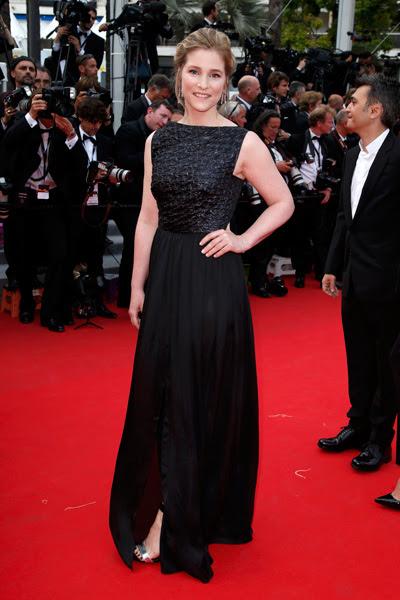 A atriz belga Natacha Regnier também preferiu o preto. Em 1998, ela ganhou o prêmio de Melhor Atriz no Festival de Cannes