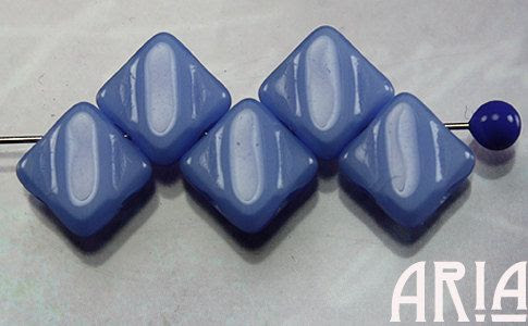 OPAQUE+LAVENDER+6x6mm+TwoHole+Diamond+Czech+by+AriaDesignStudio,+$3.85