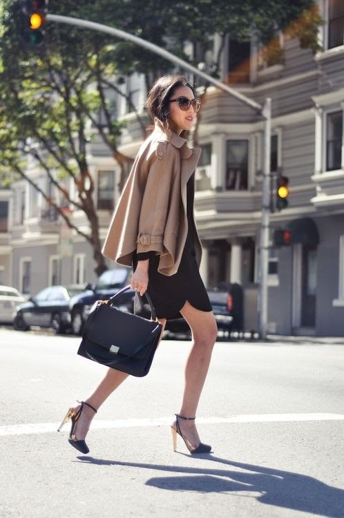 Taupe cape: #style #fall: http://weblog.evasee.com/2012/09/17/conundrum-