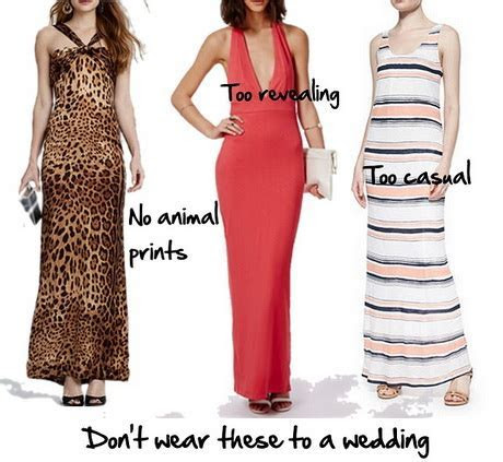 Appropriate dresses to wear to a wedding