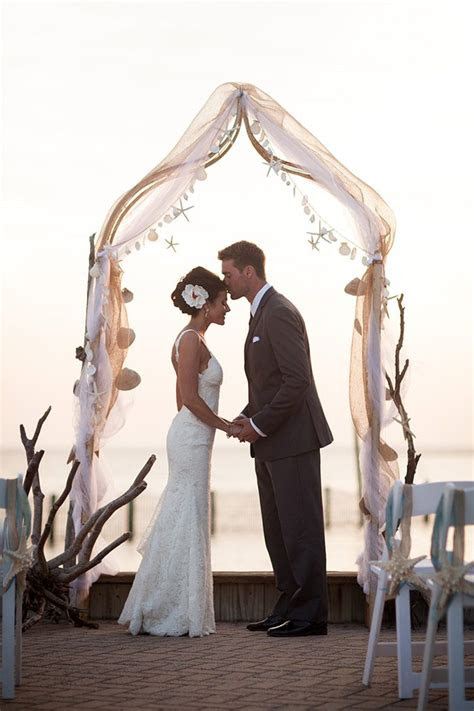 beautiful beach wedding  long beach island shore