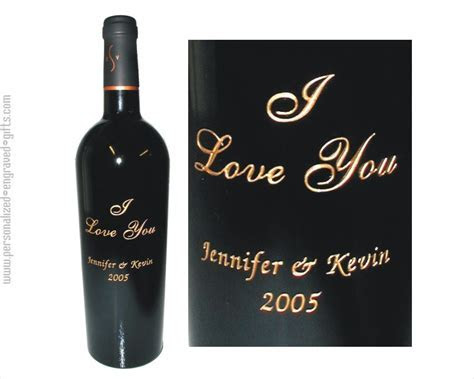 Engraved Wine Bottle   Engraved Wine Bottles   I love you