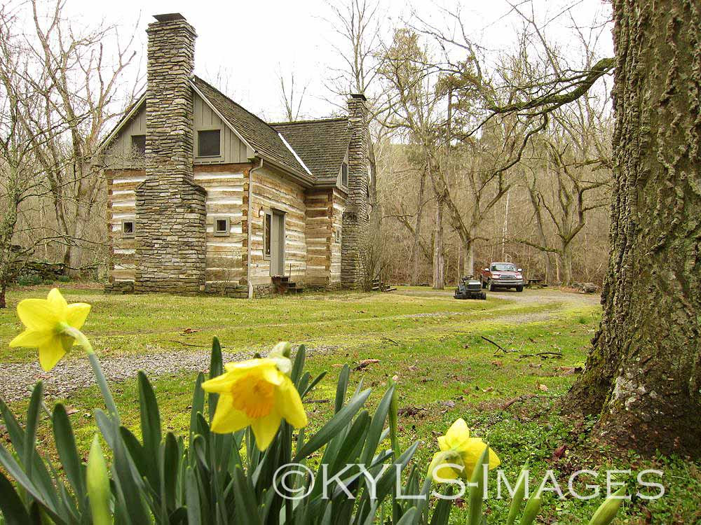 Artist Retreat, Log Cabin, Kentucky land for sale, Country Living with Creek
