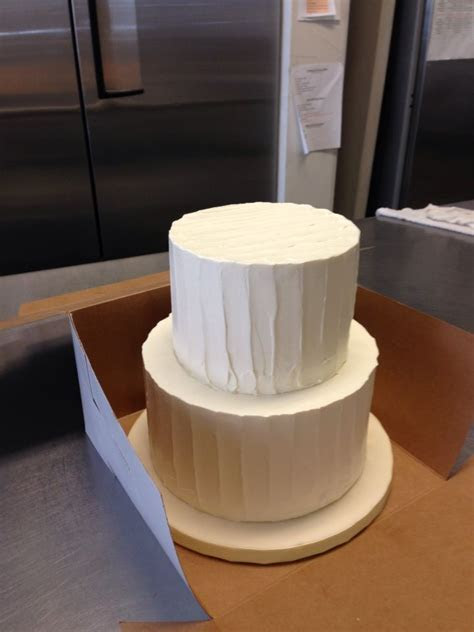 8 inch base and 6 inch top   two tier textured butter