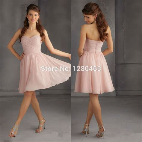 2015 Short Blush Pink Bridesmaid Dress Short Prom Dress