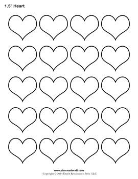 Blank Heart Templates | Printable Heart Shape PDFs