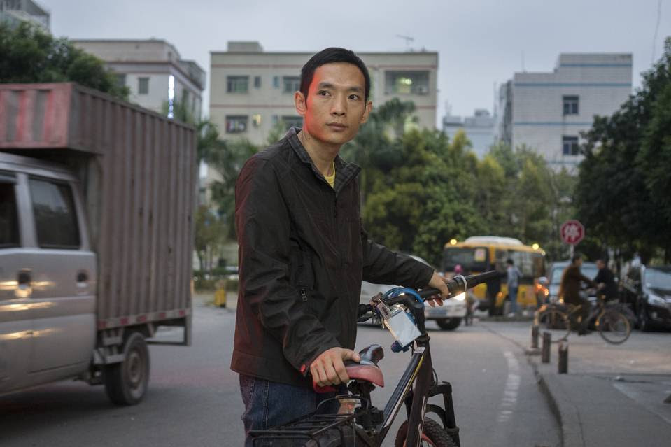 Li Jiang, 30, lost his factory job after production halted at Fuchang Electronic Technology Co. in Shenzhen, China, 700 miles from the hometown where his 3-year-old daughter lives with her grandparents.