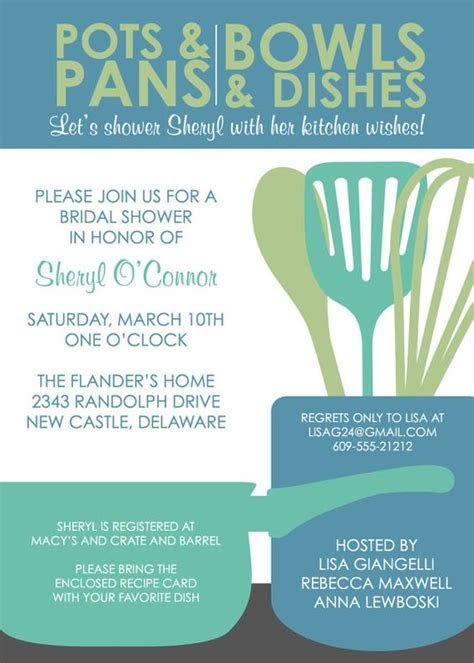Kitchen bridal showers, Bridal shower invitations and