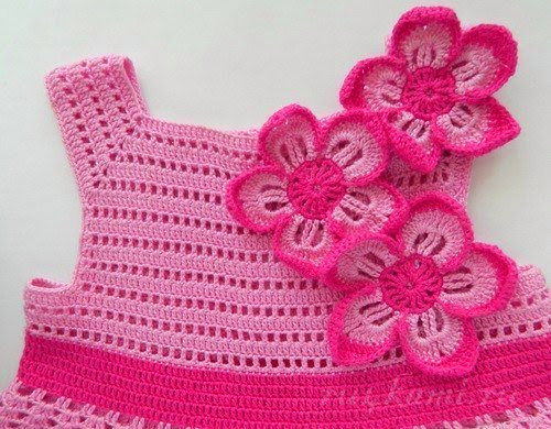Dress crochet for girls