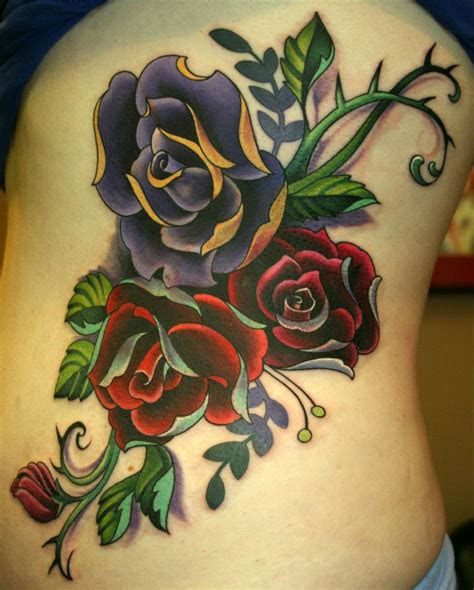 beautiful rose tattoo designs girls