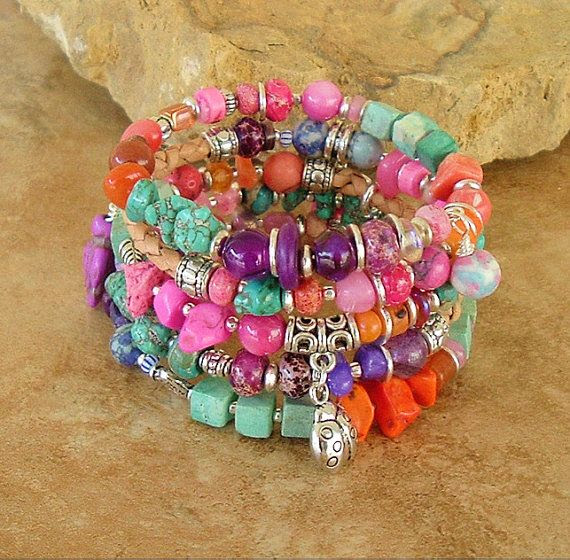 Bohemian Bracelet Colorful Bracelet Southwest by BohoStyleMe