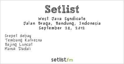 West Java Syndicate Setlist Braga Festival 2012 2012