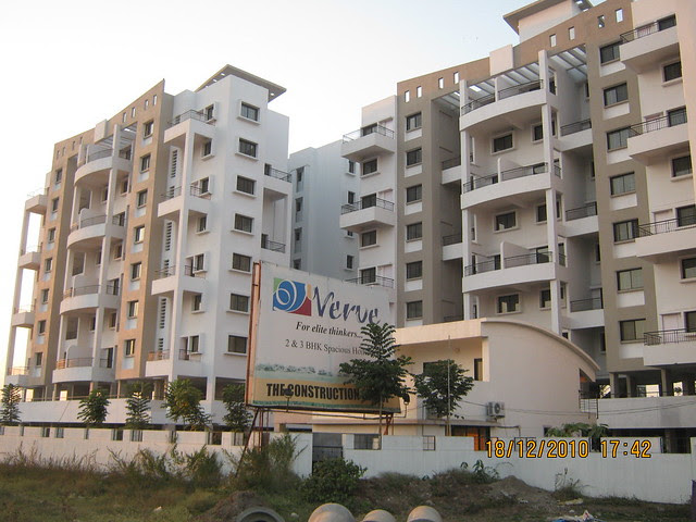 Visit to Wisteriaa - 2 BHK & 3 BHK Flats, at Bhumkar Wasti, near New Poona Bakery, at Wakad Pune 411 057 - The Construction Group's Verve - 3