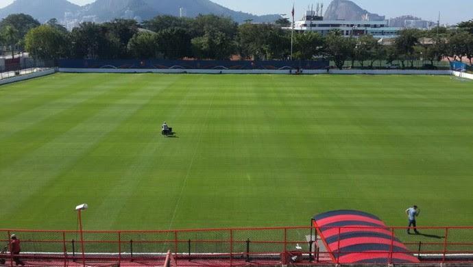 Gramado Gávea Flamengo (Foto: Felippe Costa)