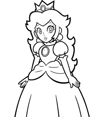 Mario Princess Peach Coloring Pages To Print