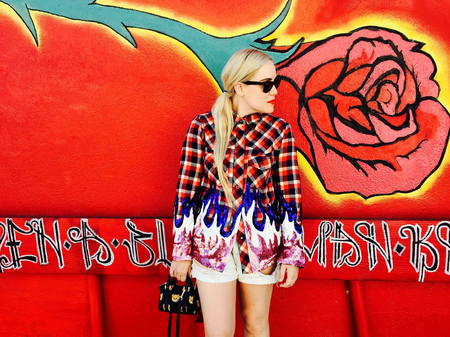 photo FAP-Filles et Papa plaid shirt- BeckermanBlog-Moschino Teddy Bear Bag- Comme des garcons- Cailli Beckerman-2_zpsp4wcftpq.jpg