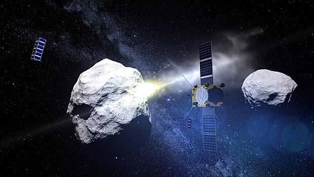 Resultado de imagem para Nave espacial da Nasa colidirá com pequena lua em 2022