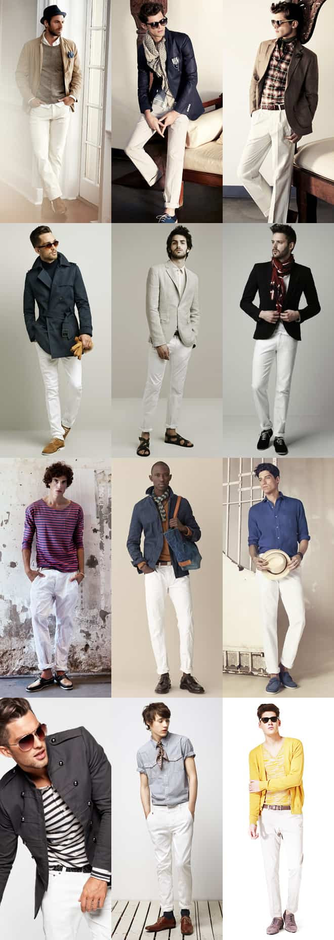 Men's White Trousers Lookbook