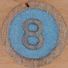 Wooden Bingo Number 8