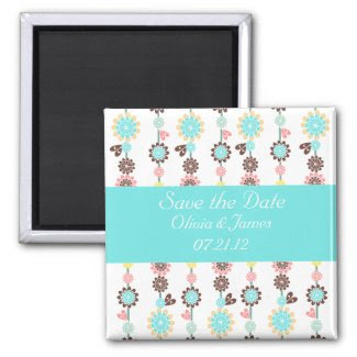 Blossom Save the Date Magnet zazzle_magnet
