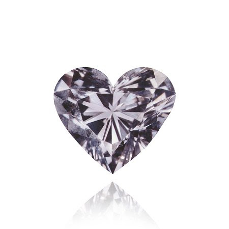 En forma de diamante de 0,25 ct Fancy Violeta Gris corazón de diamante