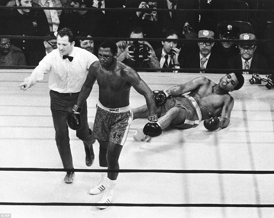 But this one from Frazier found its mark - knocking Ali to the canvas in the 15th round as Smokin' Joe took the decision