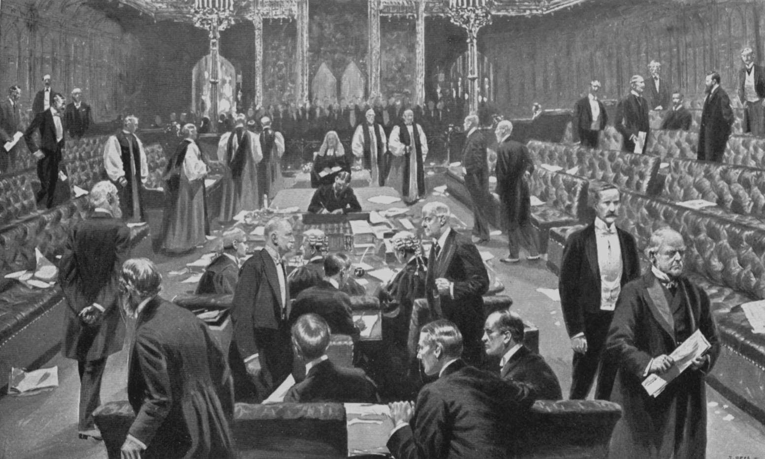 Samuel Begg: Passing of the Parliament Bill in the House of Lords, 1911
