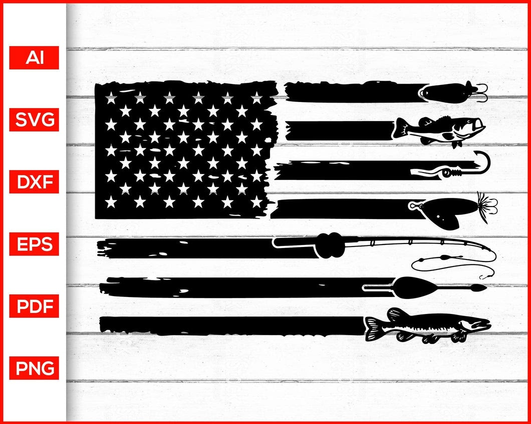 Download 239 Fishing American Flag Svg Free Svg Png Eps Dxf File