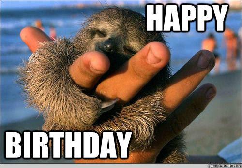 Happy Birthday Cute Baby Sloth Quickmeme