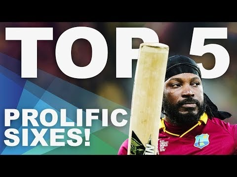 The Most Sixes at the 2015 World Cup