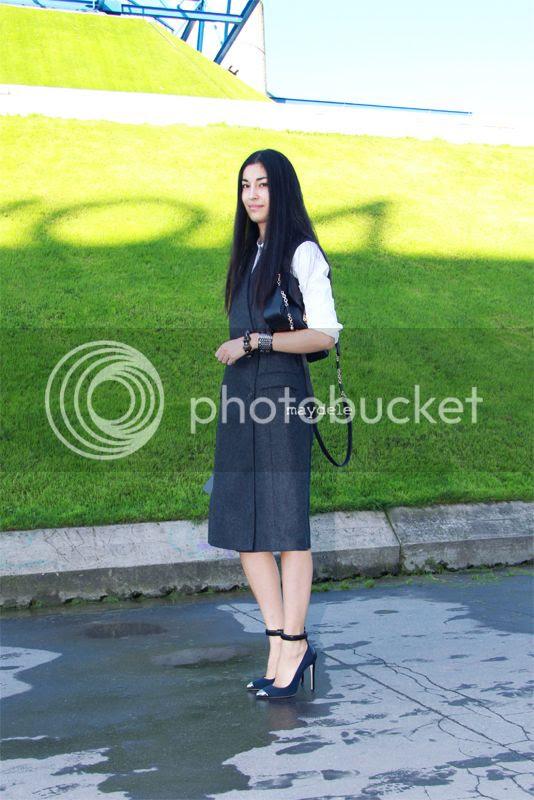 Caroline Issa wearing Paul Smith waistcoat
