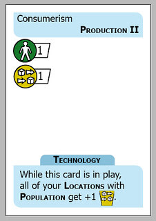 A Consumerism card