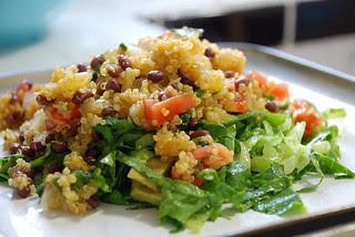 Warm Quinoa Salad for dinner!