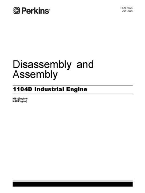 Repair Manual - Engine - PERKINS 1104D Industrial Engine