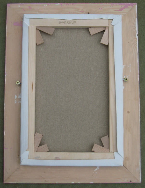 How To Fix A Picture Or A Canvas Within Its Frame Fixing The Canvas