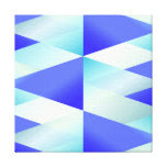 Iridescent Blue Gradient Triangles Canvas Print