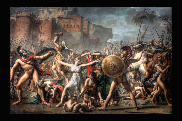 Romes Beginning Painting From Jacques Louis David Lou