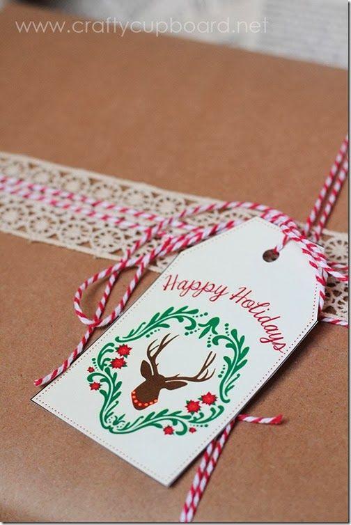 Free Printable Rustic Deer Gift Tags by The Crafty Cupboard