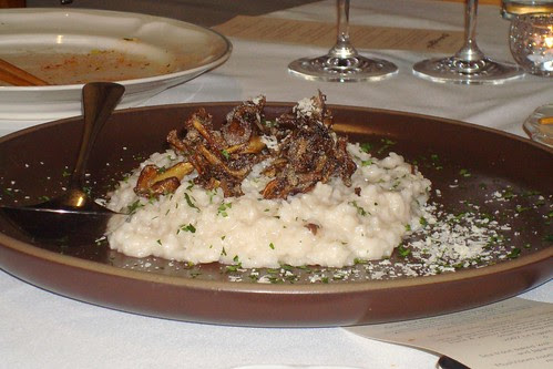 Mushroom Risotto with Koshinikari Rice, Crispy Maitake Mushrooms