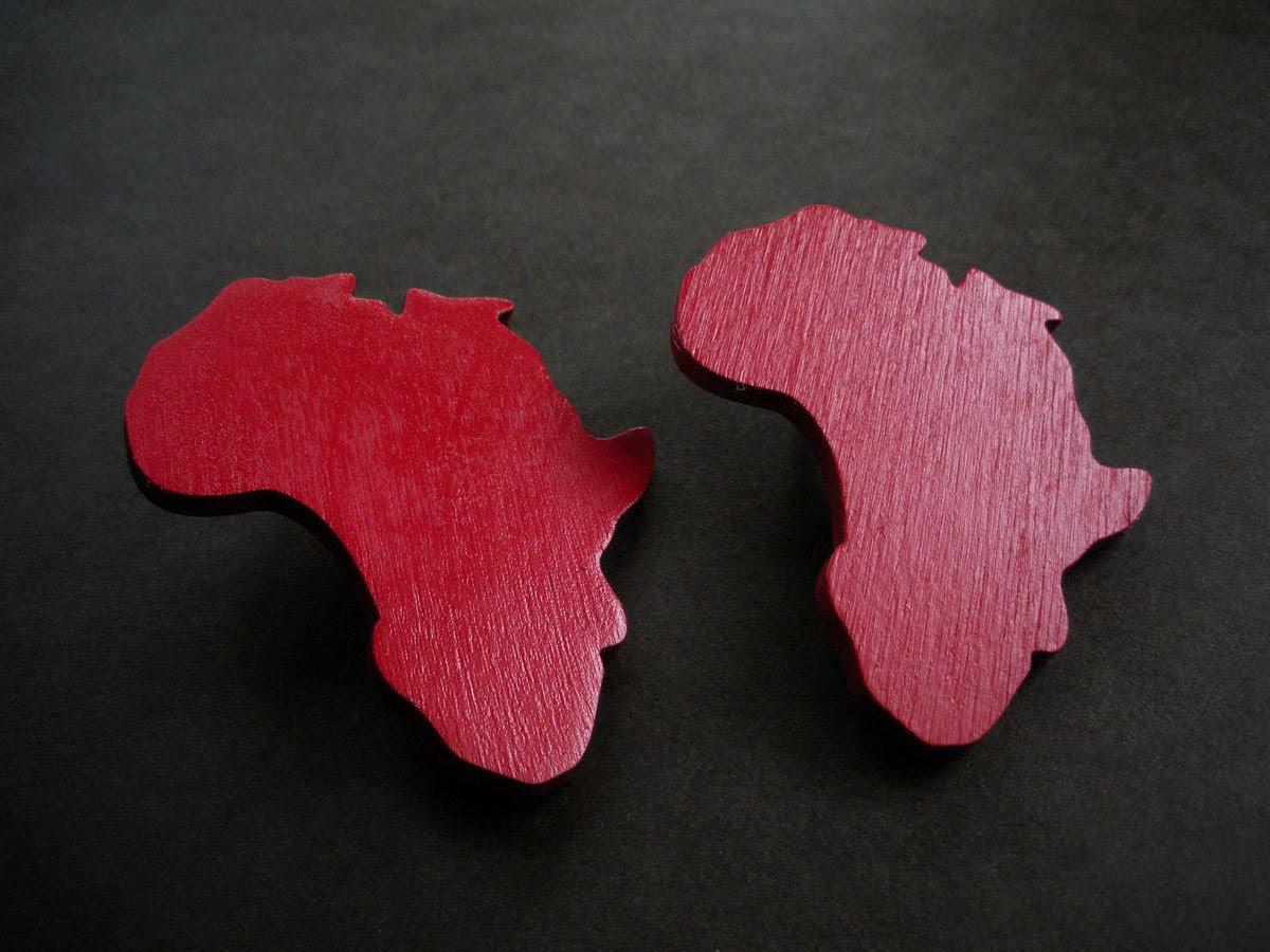 African Blood Wood Africa Earrings